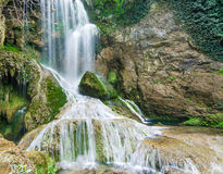 Waterfall and a Cliff Royalty Free Stock Images