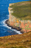 Waterfall on cliff walk to The Old Man of Hoy, Orkney Stock Photography