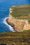 Waterfall on cliff walk to The Old Man of Hoy, Orkney Royalty Free Stock Image