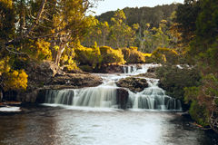 Waterfall close to Cradle Mountain Lodge Stock Photos