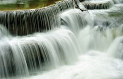 Waterfall close-up. The cascade close-up of waterfall in Thailand royalty free stock photos