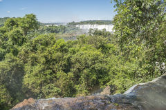 Waterfall Close Up at Iguazu Falls Royalty Free Stock Photo