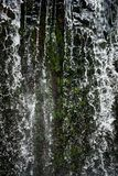 Waterfall. A closer look into waterfall. Water falling down. Amazing landscape stock photo