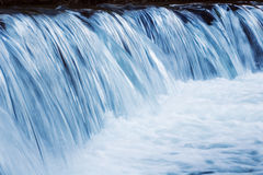 Waterfall closeup. Closeup on a waterfall by dusk. Long exposure Royalty Free Stock Image