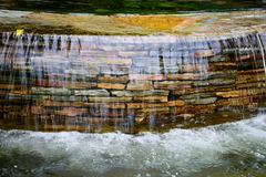 Waterfall. Closeup of Waterfall in garden stock photography