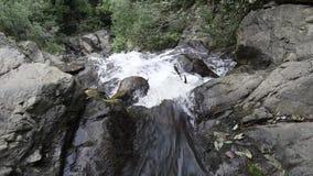 Waterfall at mountain stock video