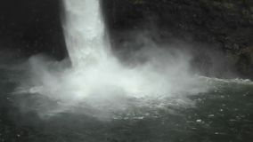 Waterfall closeup view stock footage
