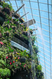 Waterfall, Cloud Forest, Gardens by the Bay Stock Photos