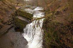 Waterfall Clun-Gwyn. Stock Images
