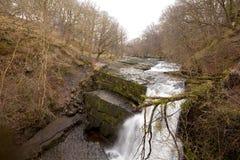Waterfall Clun-Gwyn. Royalty Free Stock Image