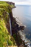 Waterfall on The Coast of Scottish Highlands royalty free stock photography