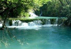 Waterfall in the Coatia. Waterfall in the Plitvice National Park UNESCO World Heritage, Croatia Stock Photography