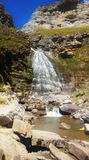 Waterfall Cola de Caballo. Waterfall named Cola de Caballo in Ordesa Valley National park in Spain stock images