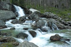 Waterfall of Cold brook Stock Photos