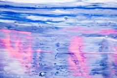 Waterfall color texture blue pink white gray background royalty free stock image