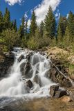 Waterfall in the Colorado Mountains Stock Photo