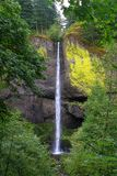 Waterfall in the Columbia River Gorge Stock Image
