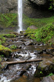 Waterfall in the Columbia River Gorge Royalty Free Stock Images