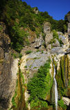 Waterfall in corsica mountains Royalty Free Stock Photos