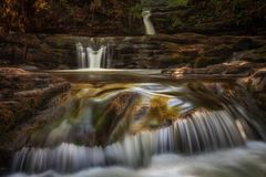 Waterfall country South Wales UK Royalty Free Stock Photography