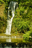 Waterfall in countryside. Scenic view of waterfall in countryside Stock Photo