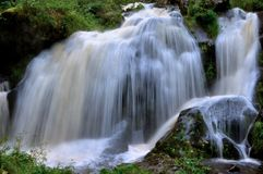 Waterfall in the countryside. Big waterfall in the countryside in Triberg Stock Image