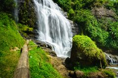 Waterfall - countryside landscape in a village in Cianjur, Java, Indonesia. Waterfall, countryside landscape in a village in Cianjur, Java, Indonesia Stock Photo