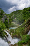 Waterfall in the countryside. Scenic view of a waterfall in the countryside Royalty Free Stock Photography