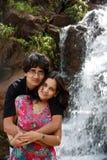 Waterfall Couple Stock Photo