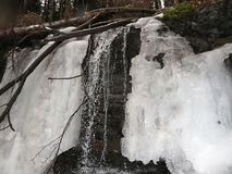 Waterfall covered with ice Royalty Free Stock Image