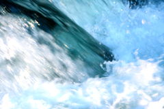 WATERFALL. CRASHING WAVE OF THE RIVER Stock Photo