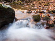 Waterfall creek autumn royalty free stock images