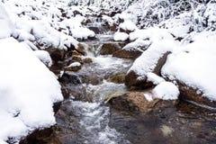 Waterfall on the creek Stock Image