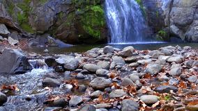 Waterfall and Creek stock footage