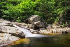 Waterfall and creek in Odaesan Royalty Free Stock Image