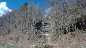 Waterfall on creek. Water drop waterfall. stock video