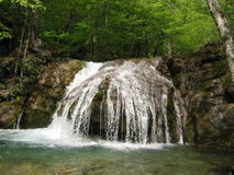 Waterfall in Crimea. Mountains, Ukraine Stock Image