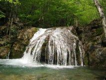 Waterfall in Crimea Stock Image