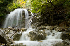 Waterfall  in Crimea Stock Image