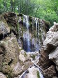 Waterfall. Crimea, mountain, russia, forest royalty free stock photos