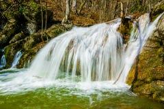 Waterfall in Crimea mountains. Crimea, Ukraine Stock Image