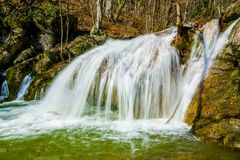 Waterfall in Crimea mountains. Crimea, Ukraine Royalty Free Stock Image