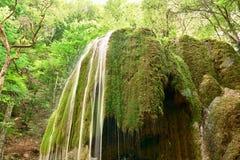 Waterfall in Crimea. Waterfall Silver streams in Crimea. Ukraine Stock Photos