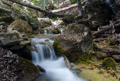 Waterfall in Crimea Stock Photography