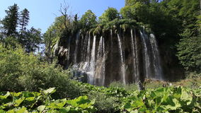 Waterfall in Croatia stock video