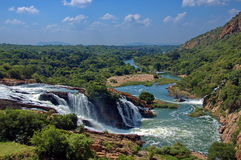 Waterfall in Crocodile river Stock Image