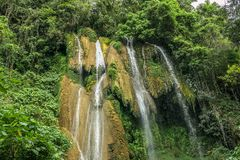 Waterfall in Cuba. Great Waterfall in Cuba, Trinidad Stock Image