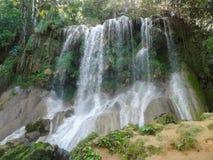 Waterfall in Cuba Stock Image