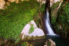 Waterfall in Cuerva dal Agua near Tiscar. Spain. Waterfall in Cuerva dal Agua near Tiscar. Provincia de Jaen, Spain royalty free stock photos