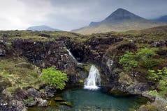 Waterfall, Cuillin Mountains, Isle of Skye , Scotland Royalty Free Stock Photos